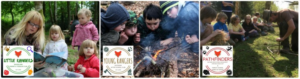 outdoor kids club in wrexham, north wales, forest school