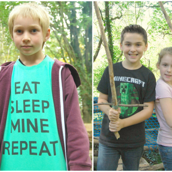kids who love minecraft, love forest school