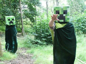 Creepers in the real Minecraft