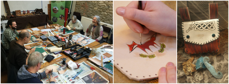 leather craft course in north wales