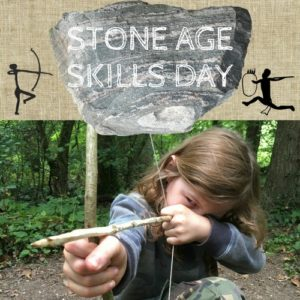 stone age skills day for kids in wales