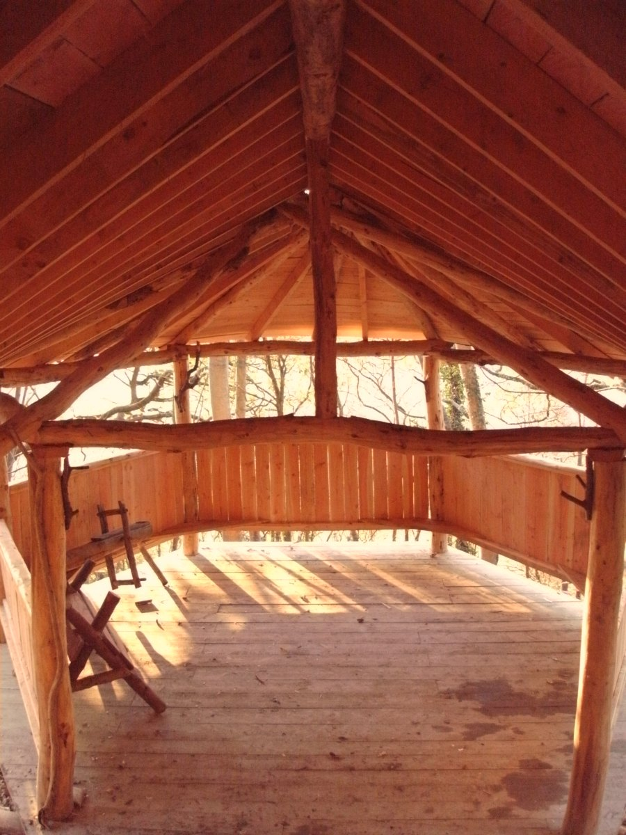 Inside the Forest School Shelter