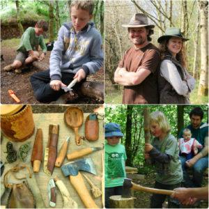 family bushcraft weekend in wales