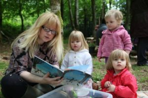 parent and toddler group outdoors in wales