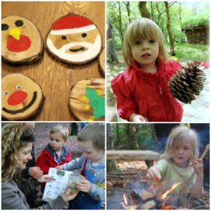 festive family fun day in the woods