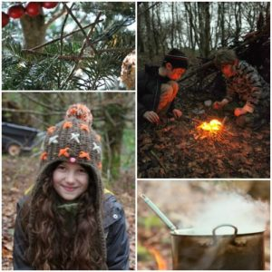 winter forest school in wales