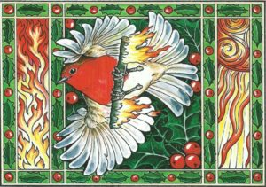 how the robin got its red breast