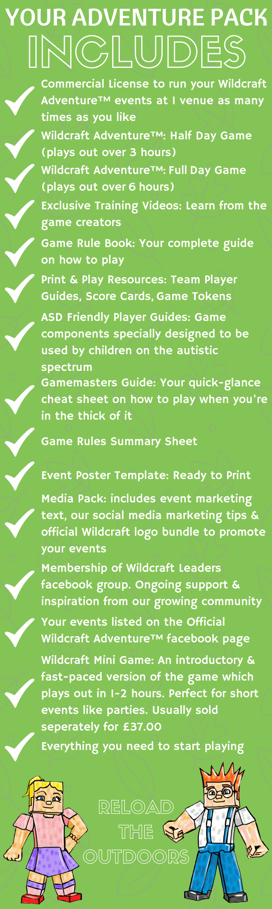 Level 1 Adventure Pack: what is included