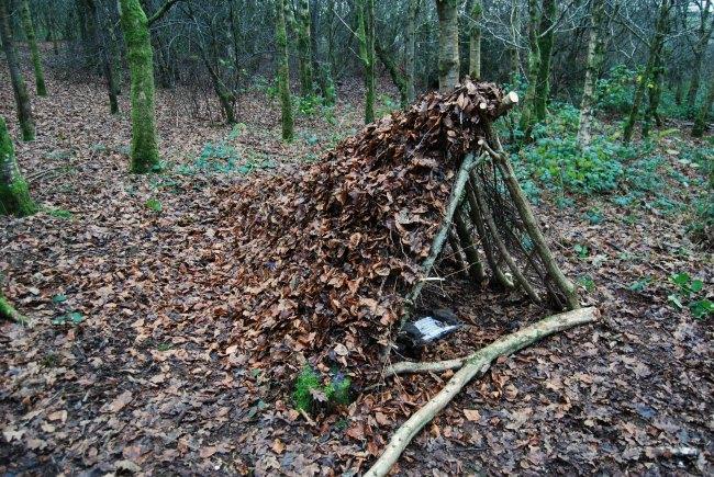 half built shelter