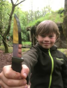 boy with knife at after school club