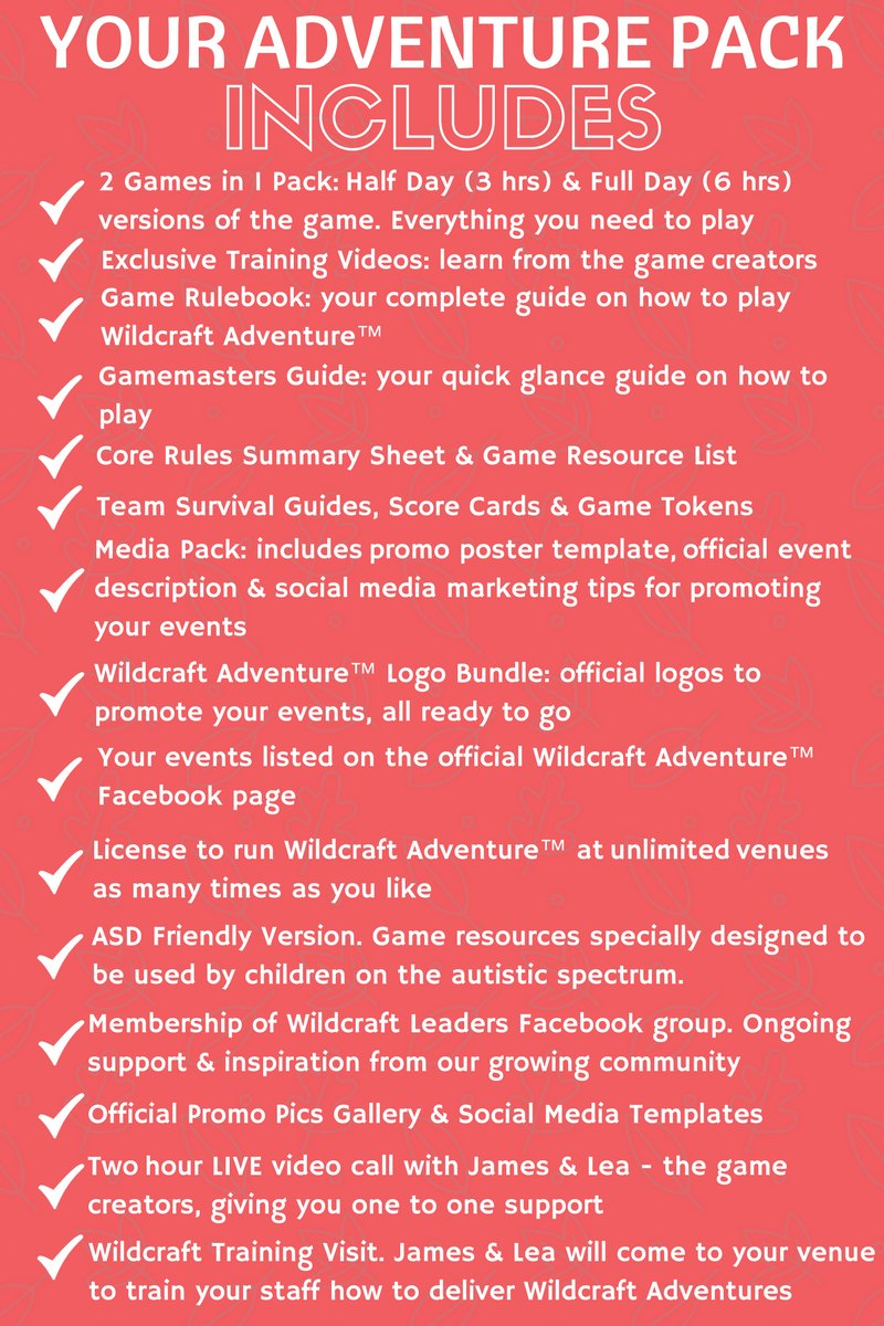 wildcraft adventure pack checklist - level 3