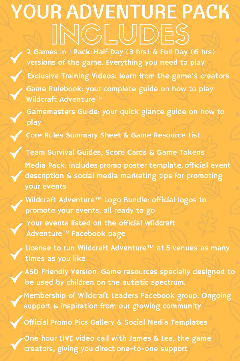 wildcraft pack checklist - level 2