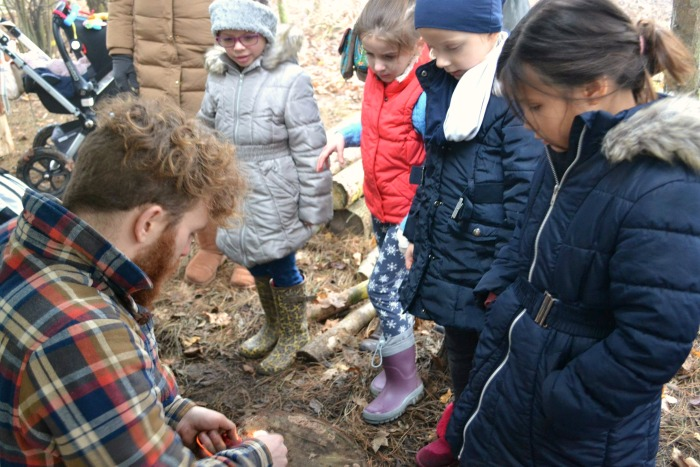 james dunlop teaches at wild thyme forest school
