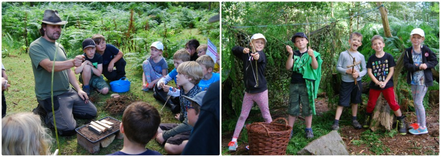 bushcraft and outdoor education at chirk castle, wrexham