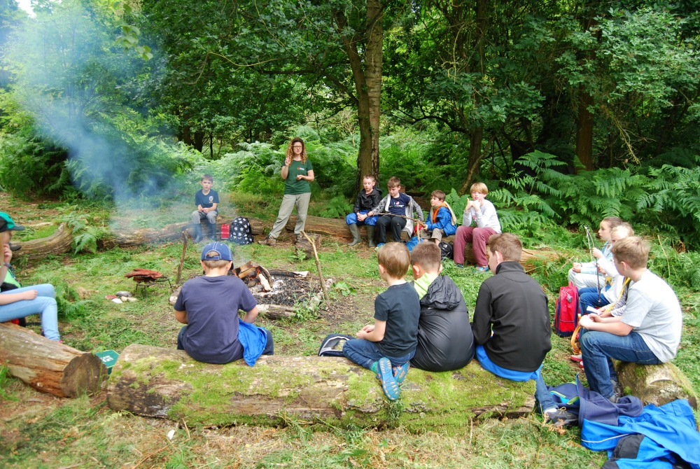 forest school circle at chirk castle
