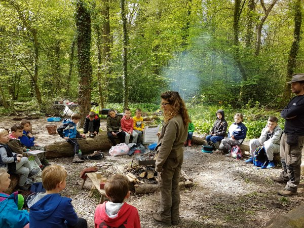 forest school and outdoor education at Erddig, Wrexham