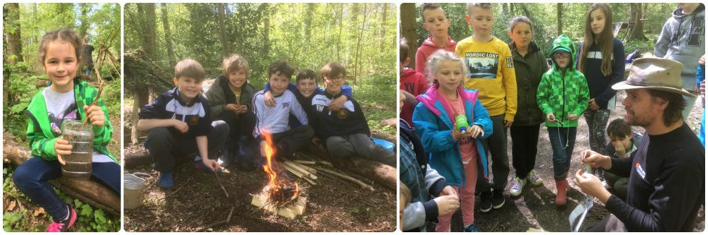 forest school and bushcraft kids in wrexham