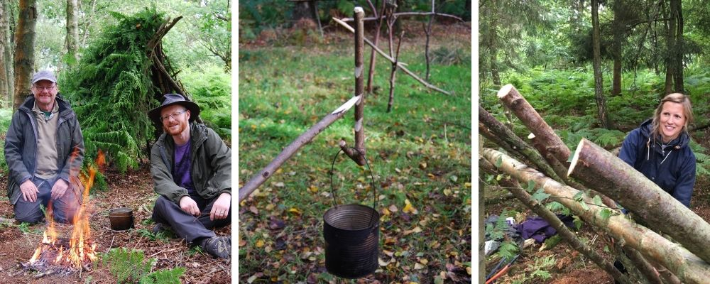 bushcraft and survival skills course in north wales