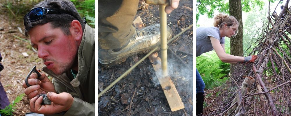 bushcraft and nature connection workshop in north wales