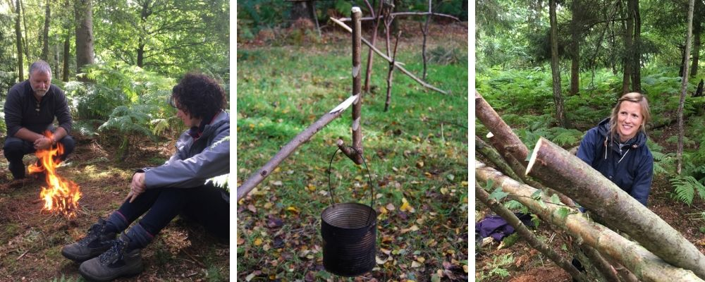 nature connection and bushcraft course in north wales