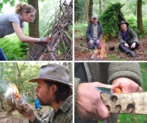 bushcraft & survival skills weekend in north wales