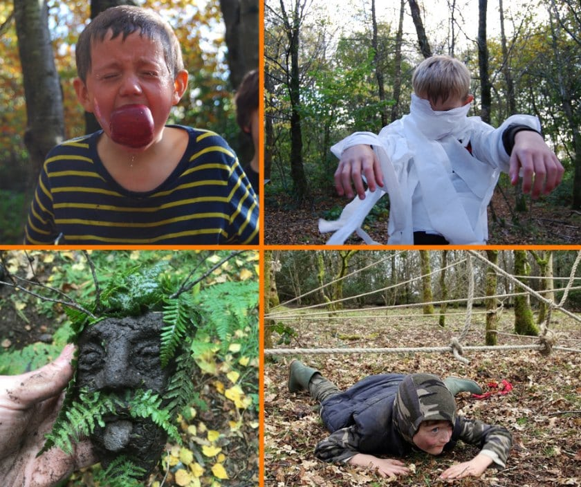halloween activities in the woods for kids