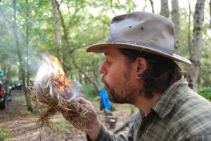 james kendall bushcraft instructor north wales