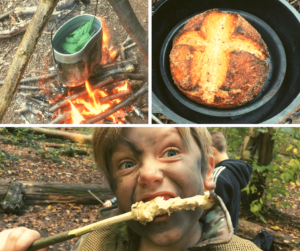 kids campfire cooking workshop in north wales
