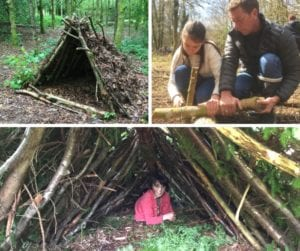 bushcraft shelter building course in north wales