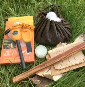 firelighting kit for bushcraft