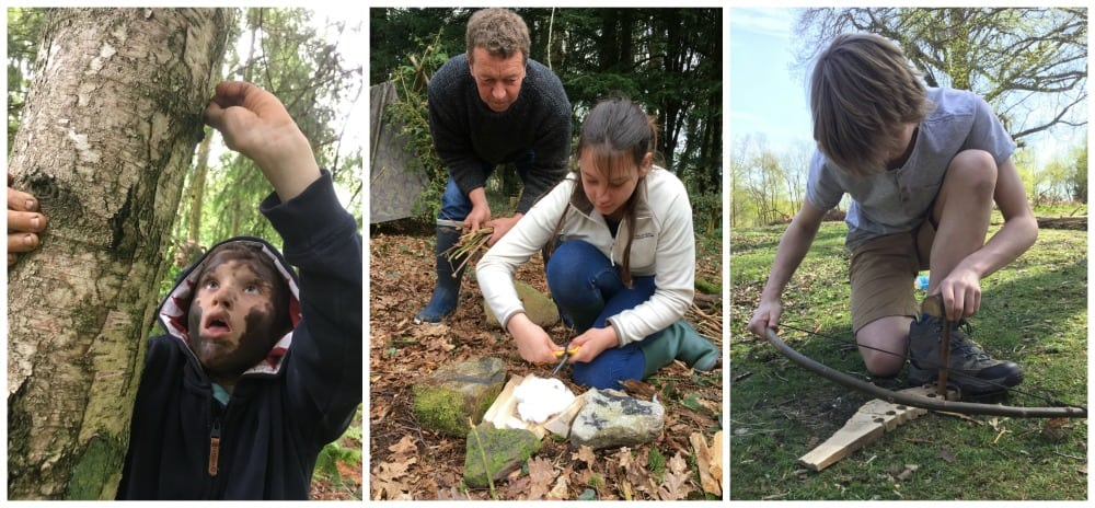 firelighting and bushcraft skills for families in north wales