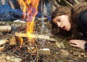 playing with fire - bushcraft and firelighting skills in north wales