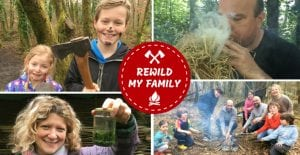 rewild my family - bushcraft day for families in north wales