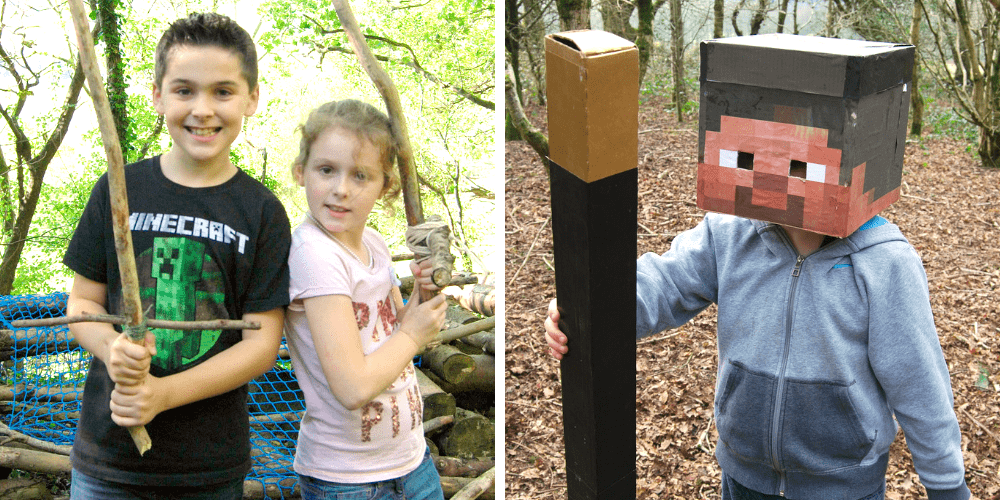 kids at summer camp on a minecraft inspired adventure