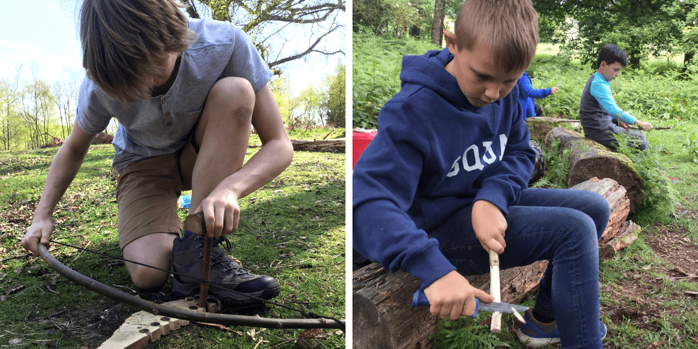 mindfulness & bushcraft with kids