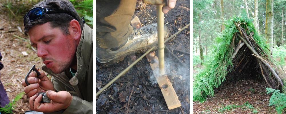 bushcraft skills weekend in north wales