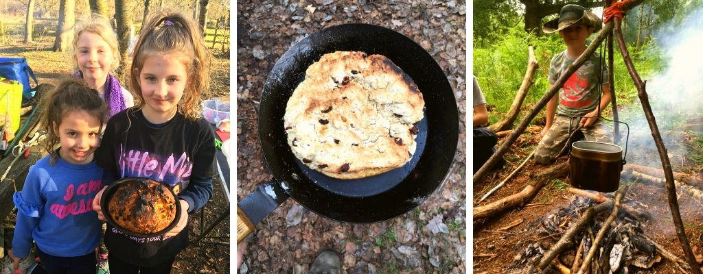 campfire cooking for kids workshop in north wales