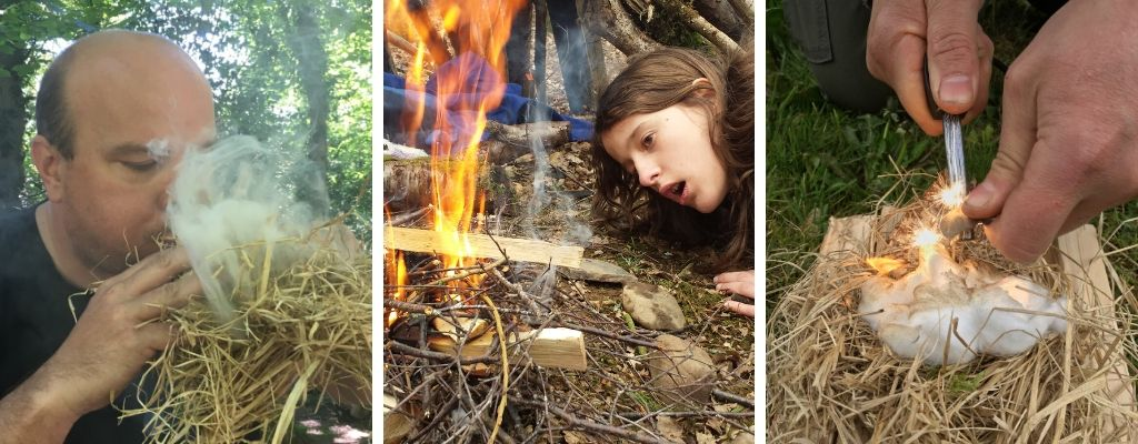 family bushcraft experience in north wale