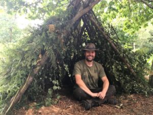 family bushcraft workshop in north wales