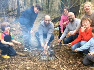 family campfire cooking workshop on zoom