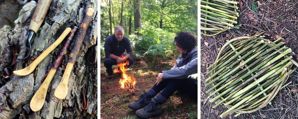 woodland wellbeing & bushcraft course