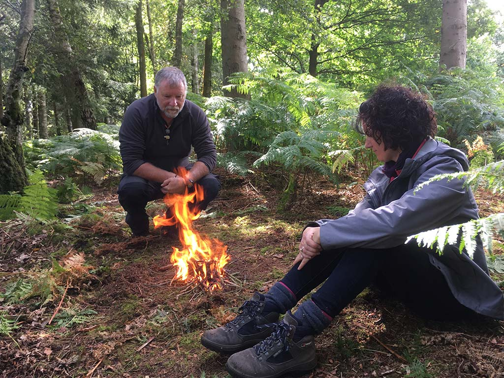 woodland mindfulness & bushcraft in north wales