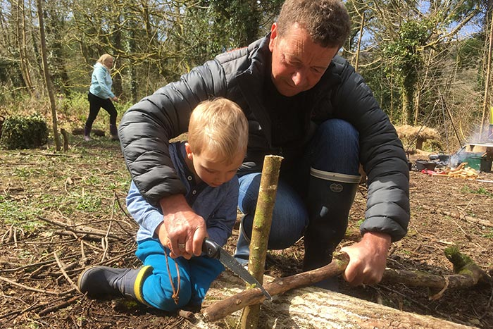 family bushcraft courses in north wales