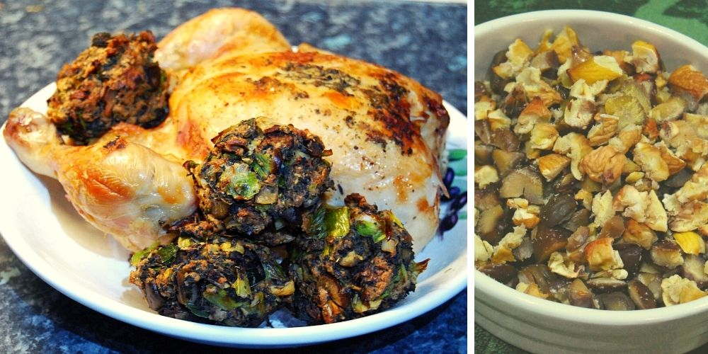 make wild food christmas stuffing
