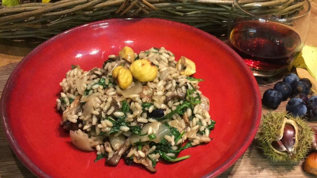 sweet chestnut and wild mushroom risotto